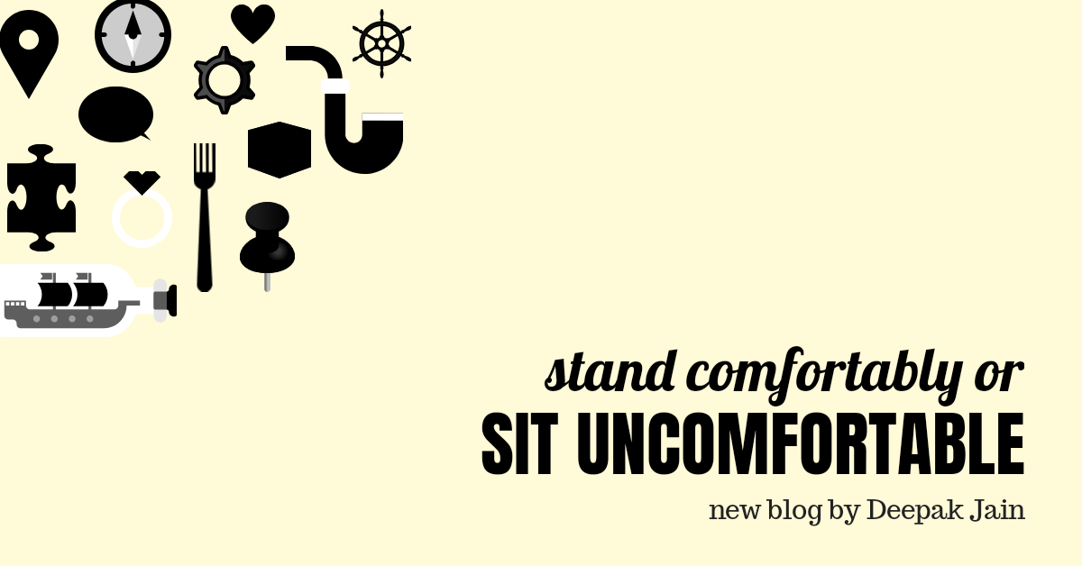Stand comfortably or sit uncomfortable