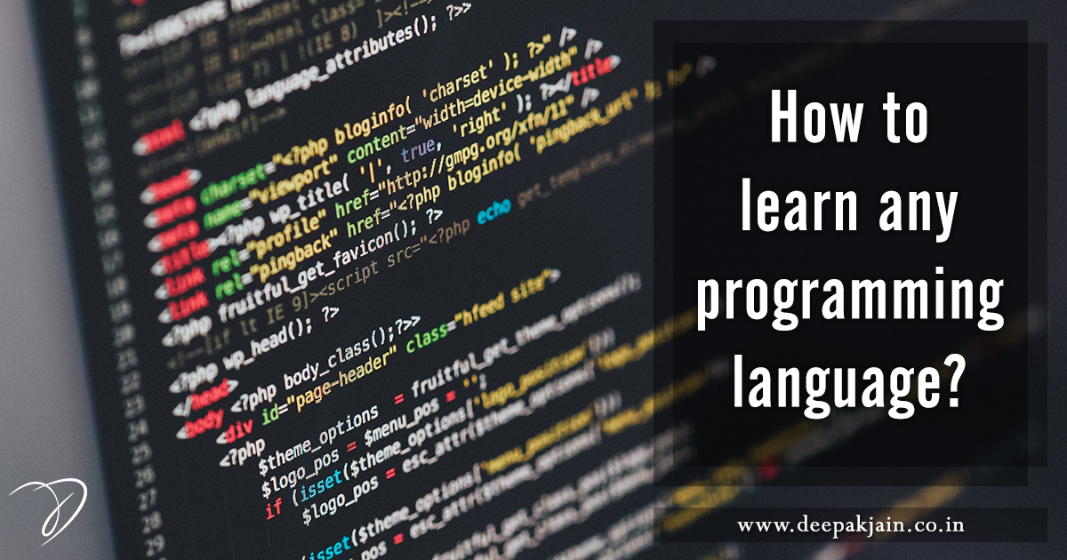 How to learn any programming language?