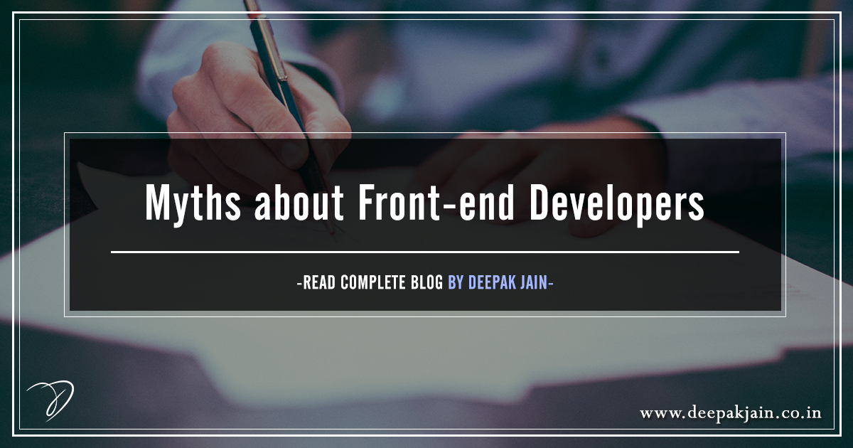 Myths about Front-end Developers