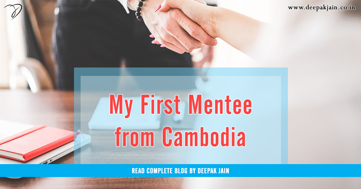 My First Mentee from Cambodia